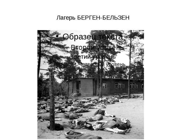 Лагерь БЕРГЕН-БЕЛЬЗЕН