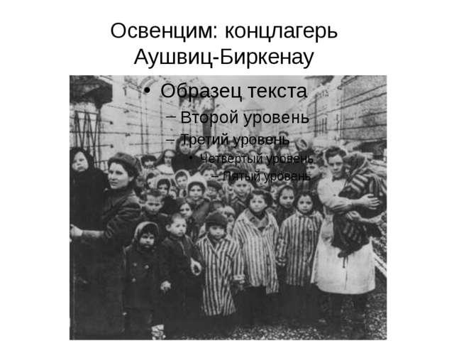 Освенцим: концлагерь Аушвиц-Биркенау