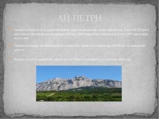 значительную роль в существовании горы сыграли карстовые процессы. Гора Ай Пе