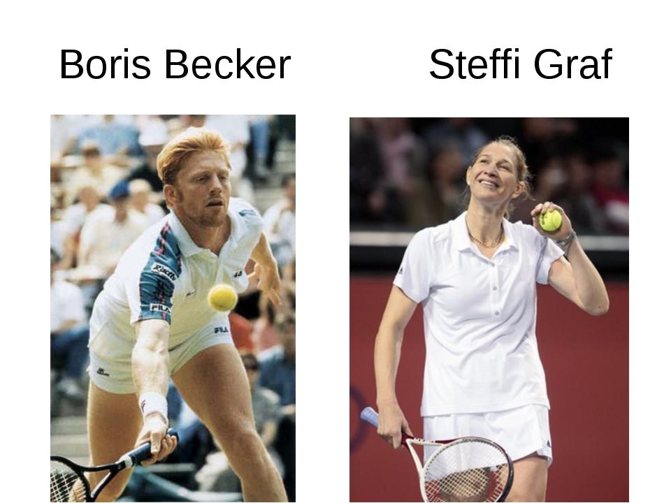 Boris Becker Steffi Graf