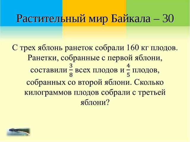 Растительный мир Байкала – 30