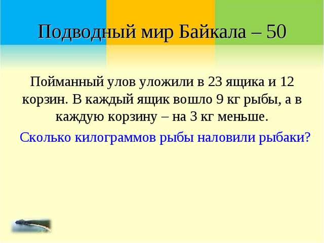 Подводный мир Байкала – 50 Пойманный улов уложили в 23 ящика и 12 корзин. В к...