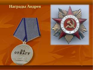 Награды Андрея