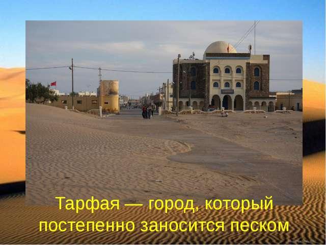 Тарфая — город, который постепенно заносится песком