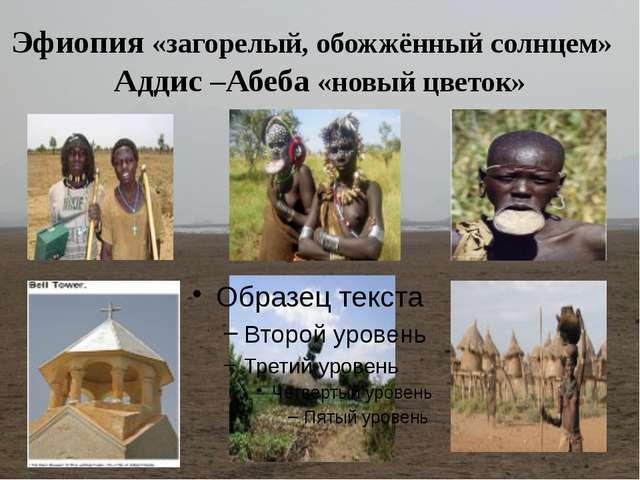 Эфиопия «загорелый, обожжённый солнцем» Аддис –Абеба «новый цветок»