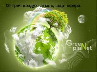 От греч воздух- атмос, шар- сфера.