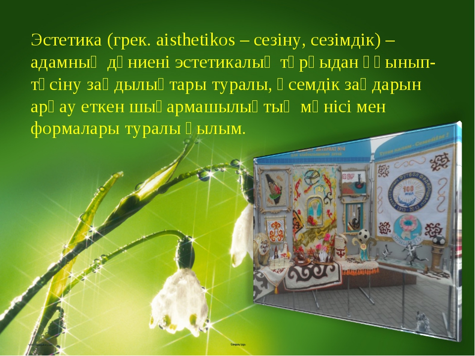 www.themegallery.com Company Logo Эстетика (грек. aіsthetіkos – сезіну, сезім...