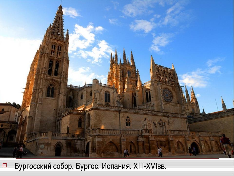 Бургосский собор. Бургос, Испания. XIII-XVIвв.