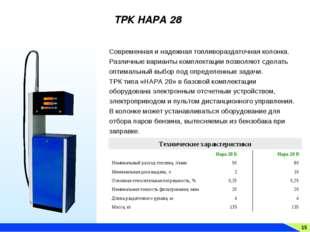 15 ТРК НАРА 28 Современная и надежная топливораздаточная колонка. Различные в