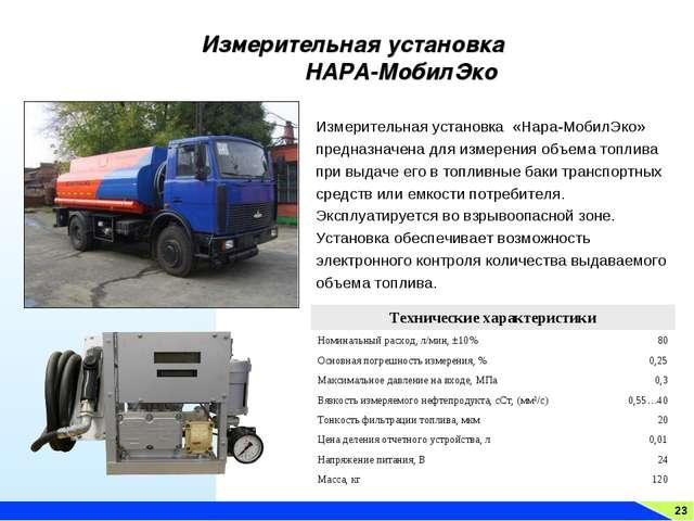 23 Измерительная установка НАРА-МобилЭко Измерительная установка «Нара-МобилЭ...