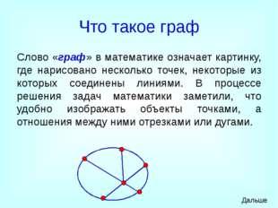 Что такое граф Слово «граф» в математике означает картинку, где нарисовано не