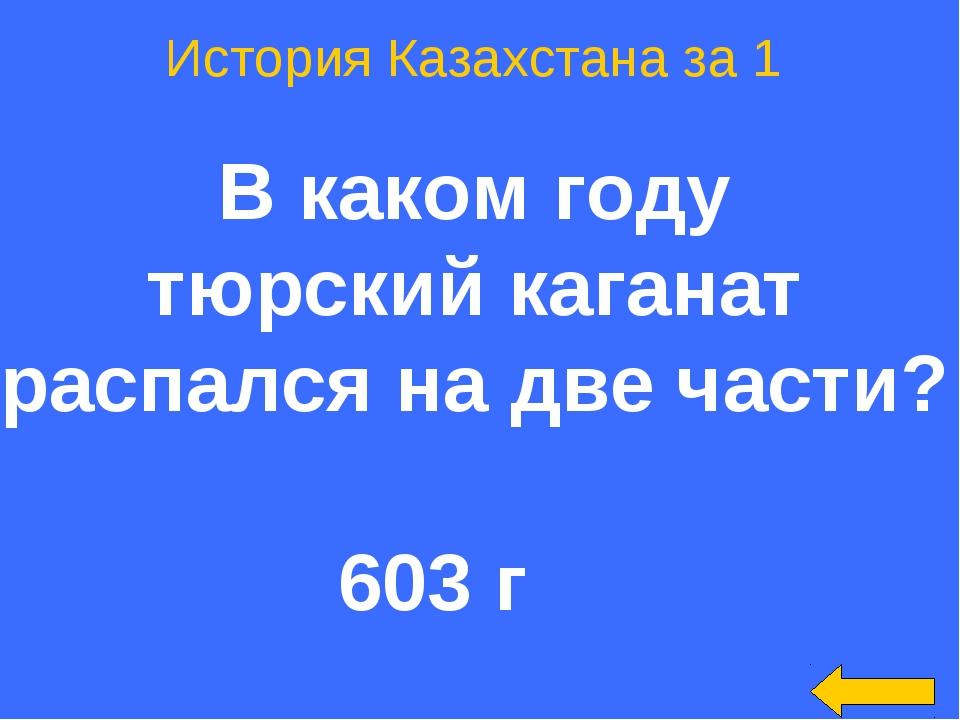 История Казахстана за 1 В каком году тюрский каганат распался на две части? 6...