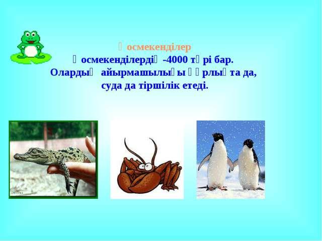 Қосмекенділер Қосмекенділердің-4000 түрі бар. Олардың айырмашылығы құрлықта д...