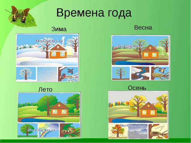 Времена года Зима Весна Лето Осень