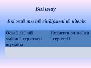 """Үй тапсырмасы М.Жұмабаевтың""""Сағындым"""" өлеңіндегі өзіңді толқытып, тебірентке"""
