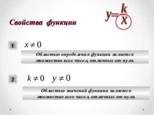 Свойства функции 1 Областью определения функции является множество всех чисел