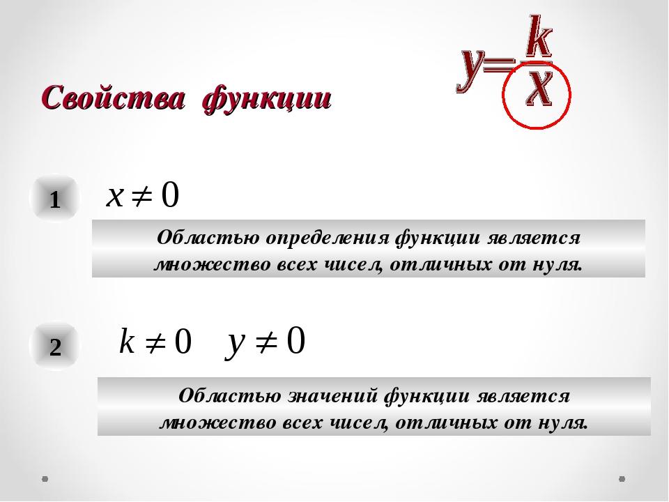 Свойства функции 1 Областью определения функции является множество всех чисел...