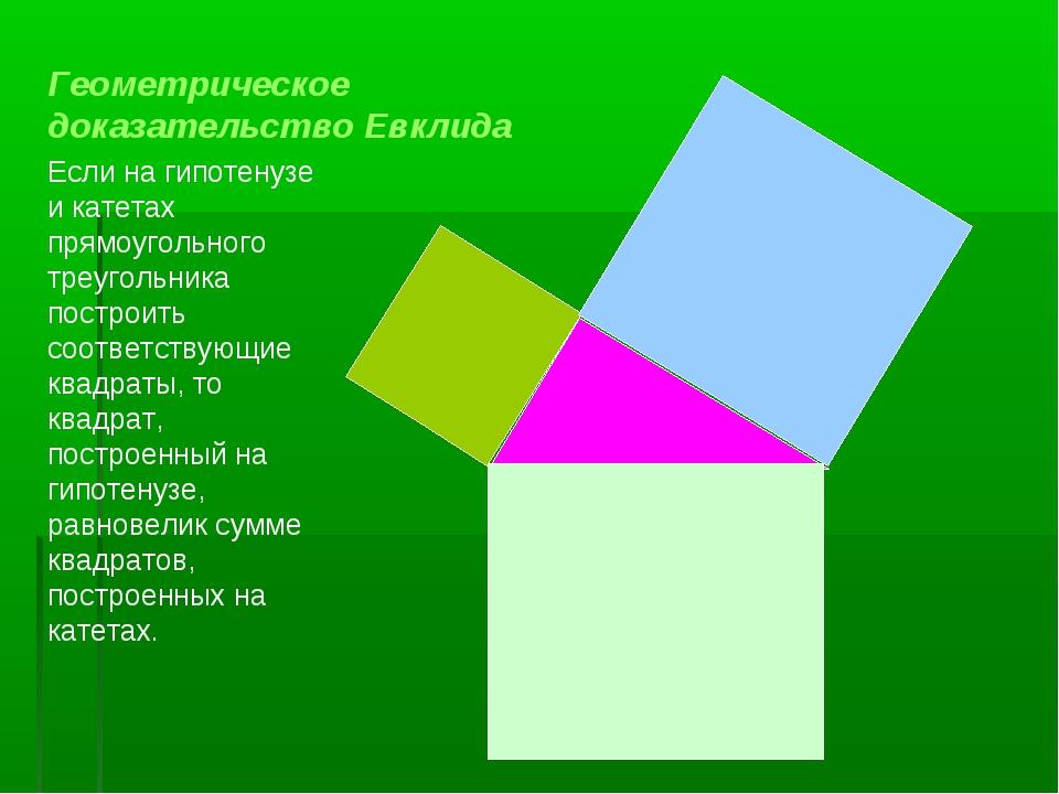 Если на гипотенузе и катетах прямоугольного треугольника построить соответств...