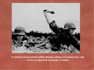 О своей долгожданной победе фюрер собирался оповестить мир лично на Красной п