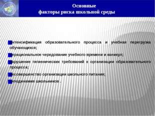 интенсификация образовательного процесса и учебная перегрузка обучающихся; н