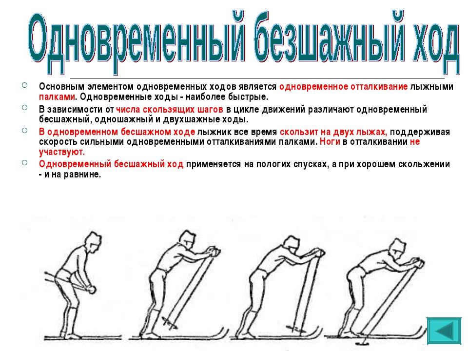 Основным элементом одновременных ходов является одновременное отталкивание лы...