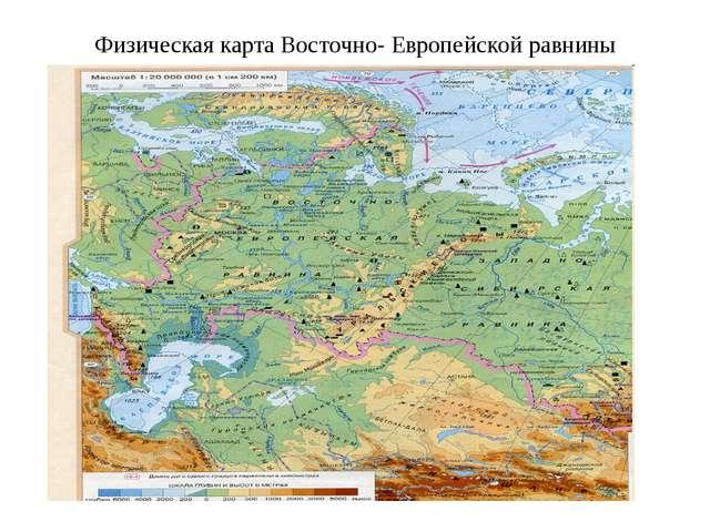 Физическая карта Восточно- Европейской равнины