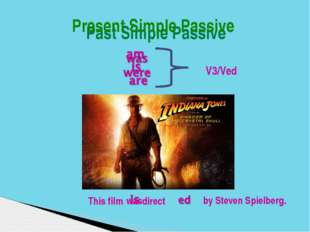Past Simple Passive 	 V3/Ved Present Simple Passiv