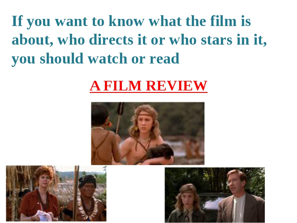 If you want to know what the film is about, who directs it or who stars in it...