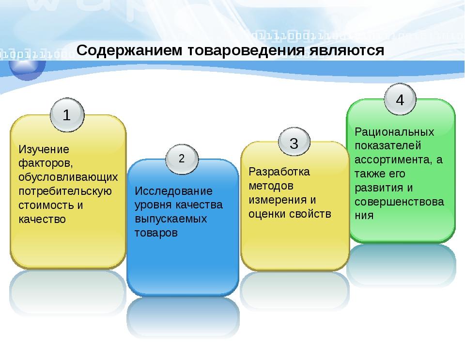 Содержанием товароведения являются 2 Исследование уровня качества выпускаемых...