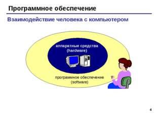 * Программное обеспечение аппаратные средства (hardware) программное обеспече