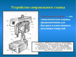 Устройство сверлильного станка Сверлильный станок — это технологическая машин