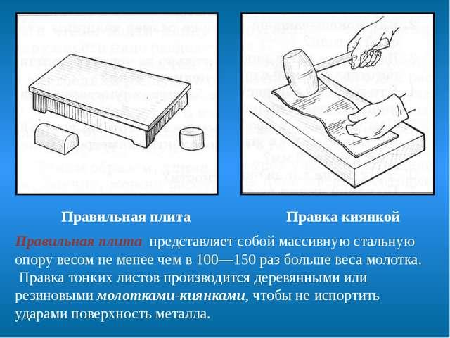 Правильная плита представляет собой массивную стальную опору весом не менее...
