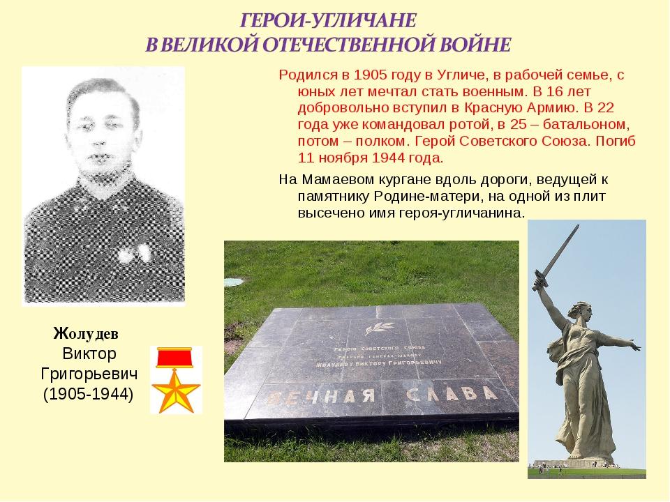 Родился в 1905 году в Угличе, в рабочей семье, с юных лет мечтал стать военны...