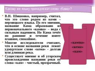 В.Н. Шишонко, например, считал, что это слово родом из коми – пермяцкого язык