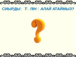 СИЫРДЫҢ ТӨЛІН ҚАЛАЙ АТАЙМЫЗ?