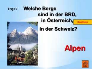 Frage 2 Wie heissen die Hauptstädte der deutschsprachigen Länder? Die BRD- Be