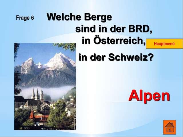 Frage 2 Wie heissen die Hauptstädte der deutschsprachigen Länder? Die BRD- Be...