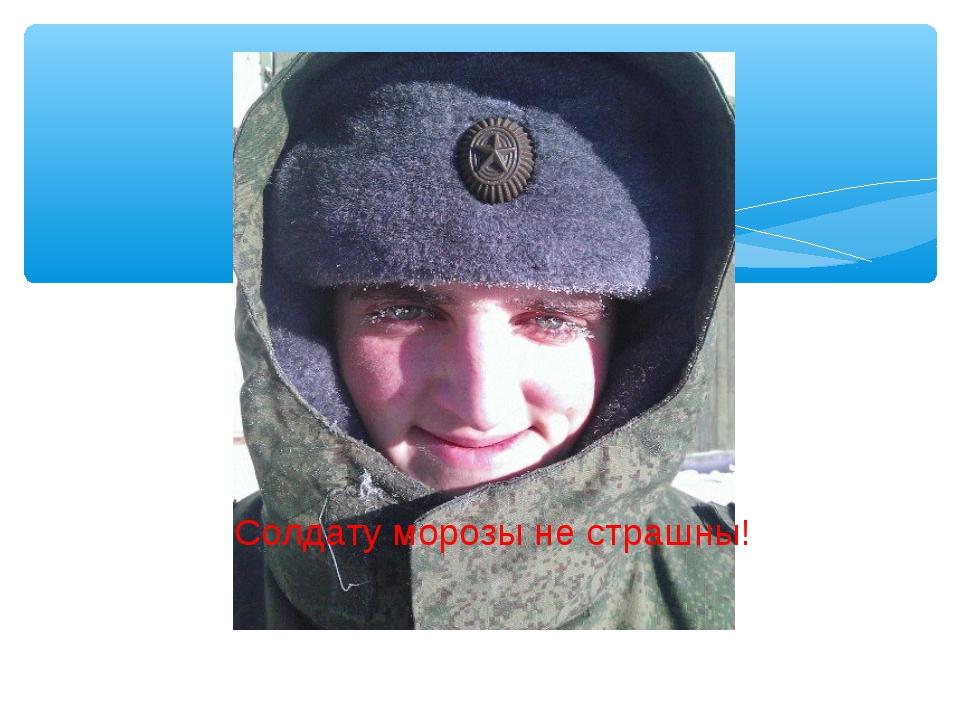 Солдату морозы не страшны!