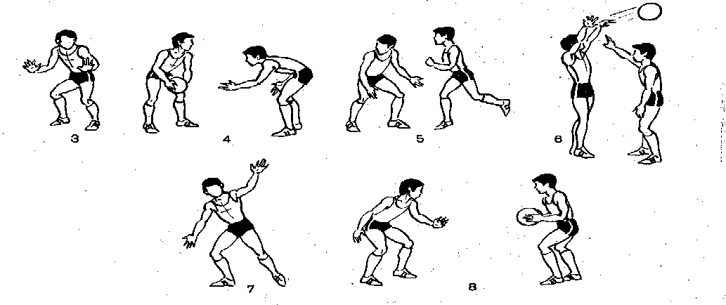 техникf передвижений по баскетбольной площадке