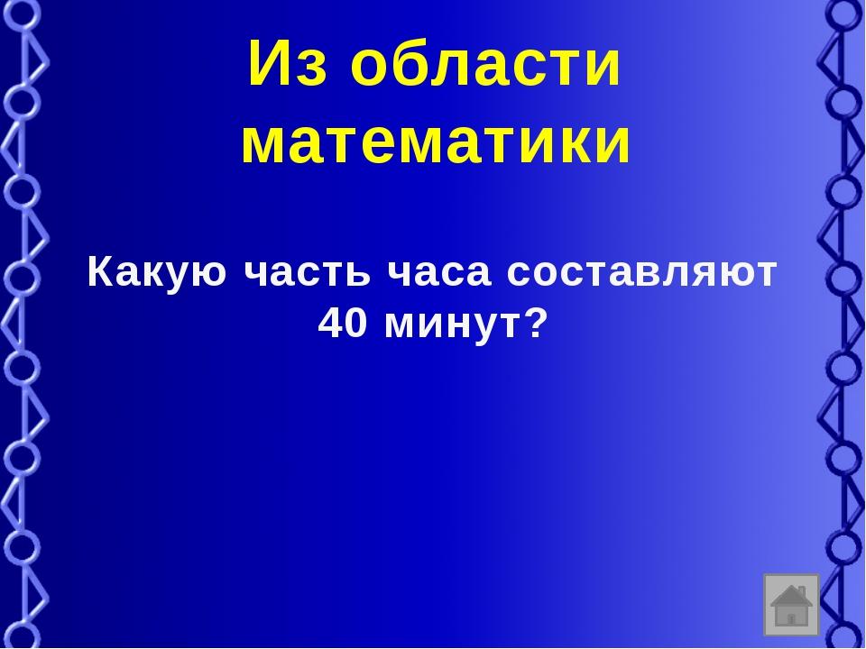 Вопросы из области чисел Множество чисел, использующееся для счета предметов.