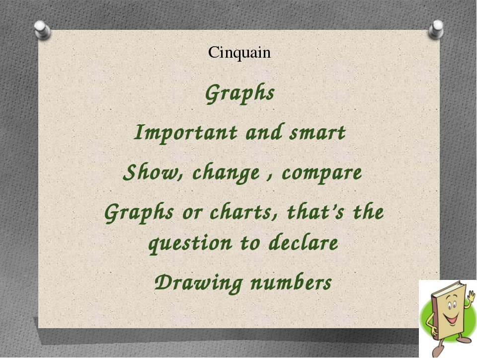 Cinquain Graphs Important and smart Show, change , compare Graphs or charts,...