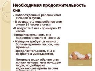 Необходимая продолжительность сна - Новорожденный ребенок спит 16часов в сутк