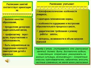 психофизиологические особенности учащихся, санитарно-гигиенические нормы, осо