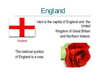 England London is the capital of England and the United Kingdom of Great Brit