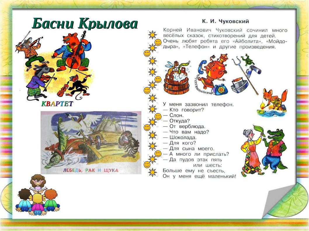 Басни Крылова КВАРТЕТ