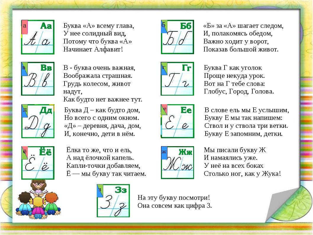 это творческий проект живая азбука 1 класс глицерин