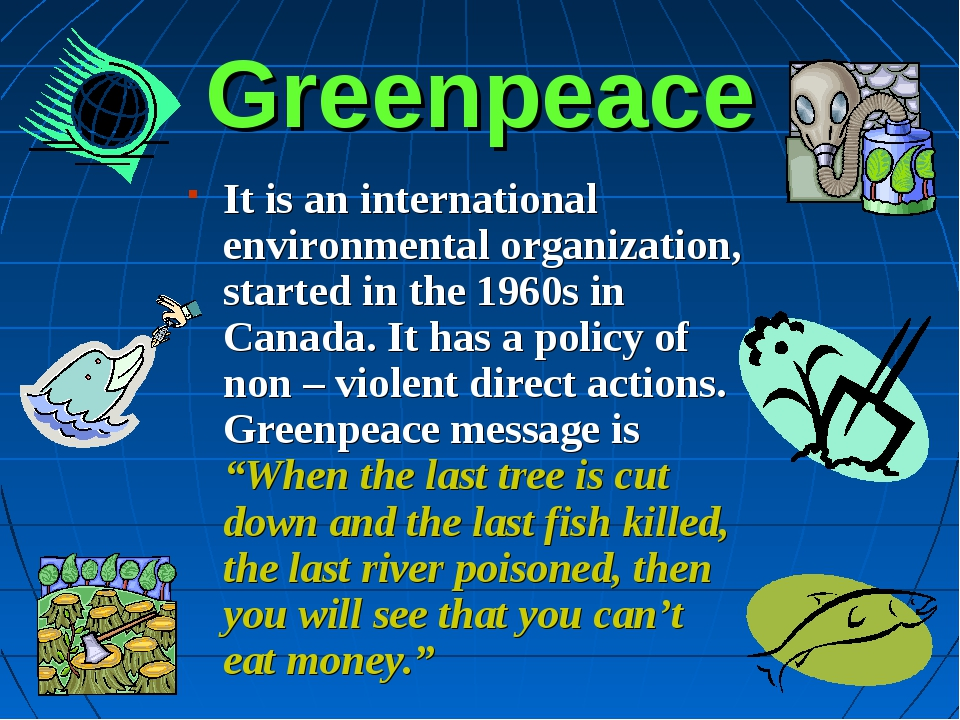 Greenpeace It is an international environmental organization, started in the...