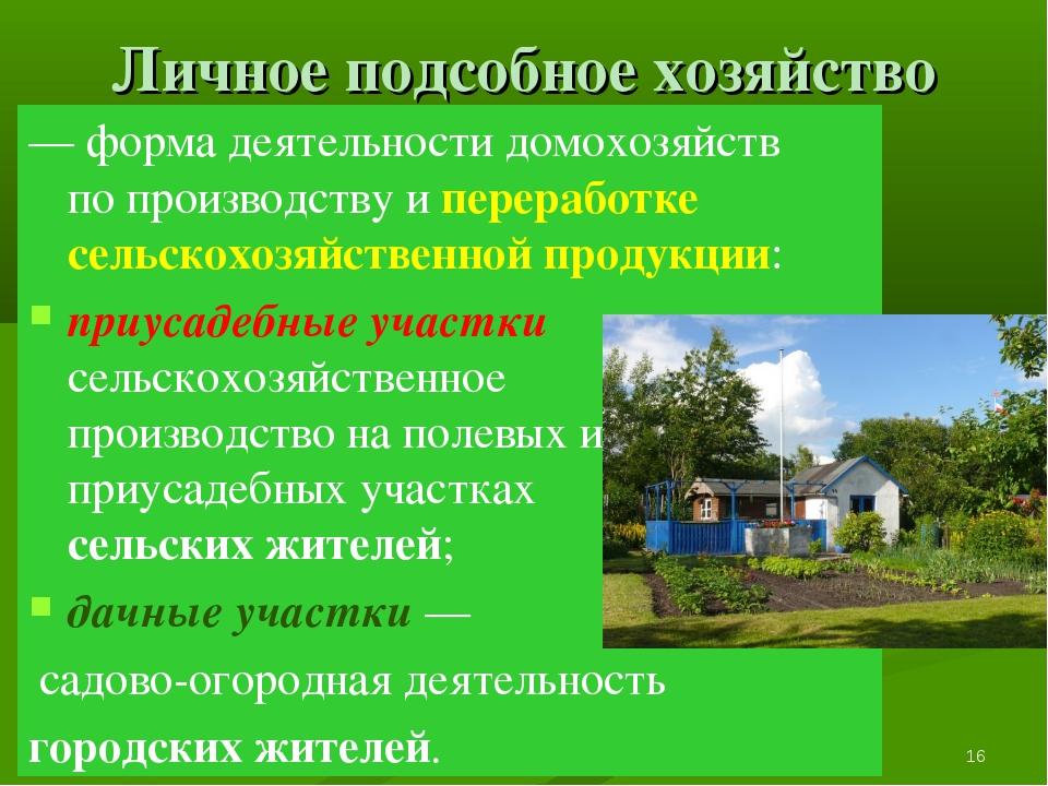 Глава 2. Экономика домохозяйства * 8. Экономические функции домохозяйства Лич...