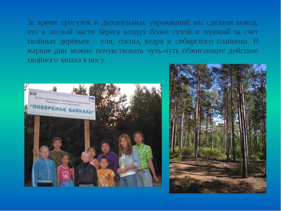 За время прогулок и дыхательных упражнений мы сделали вывод, что в лесной час...