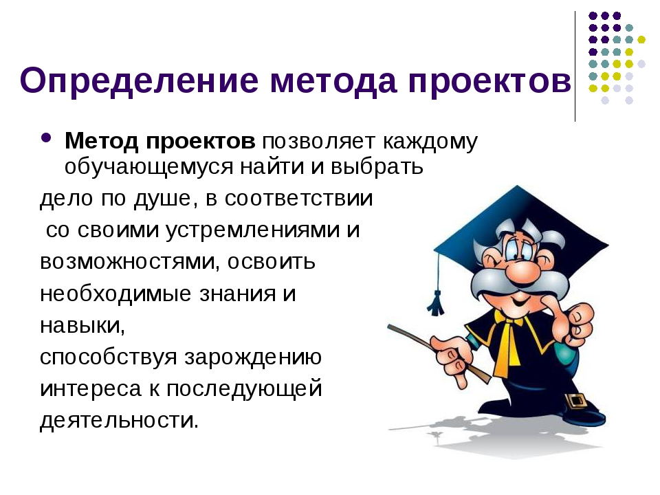 Определение метода проектов Метод проектов позволяет каждому обучающемуся най...